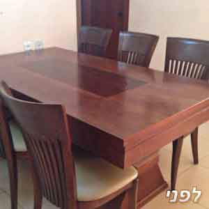 שולחן פינת אוכל + 6 כיסאות לצביעה