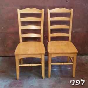 כיסאות פינת אוכל ללא ריפוד שיצבעו בלבן