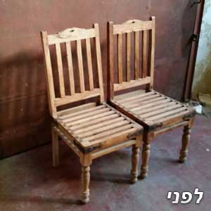 2 כיסאות לפני צבע